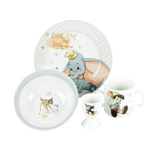 Disney Baby Crockery Set Featuring Dumbo, Bambi, Thumper and Pinnochio
